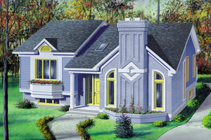 Ranch Exterior - Front Elevation Plan #25-1136