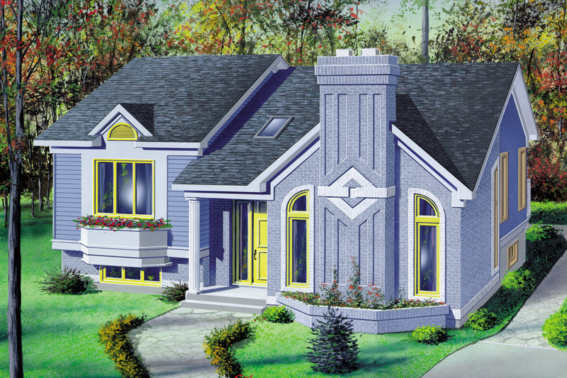 Ranch Style House Plan - 2 Beds 1 Baths 1060 Sq/Ft Plan #25-1136 Exterior - Front Elevation
