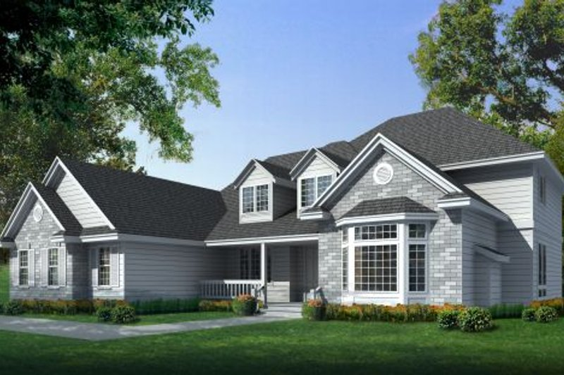 Home Plan - Farmhouse Exterior - Front Elevation Plan #100-218