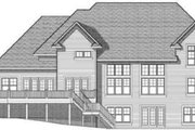 Traditional Style House Plan - 4 Beds 3 Baths 4448 Sq/Ft Plan #70-584 Exterior - Rear Elevation