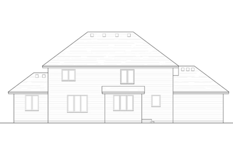 Traditional Exterior - Rear Elevation Plan #51-403 - Houseplans.com