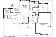 Ranch Style House Plan - 3 Beds 2.5 Baths 2080 Sq/Ft Plan #70-1134 Floor Plan - Main Floor Plan