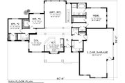 Ranch Style House Plan - 3 Beds 2.5 Baths 2080 Sq/Ft Plan #70-1134 Floor Plan - Main Floor