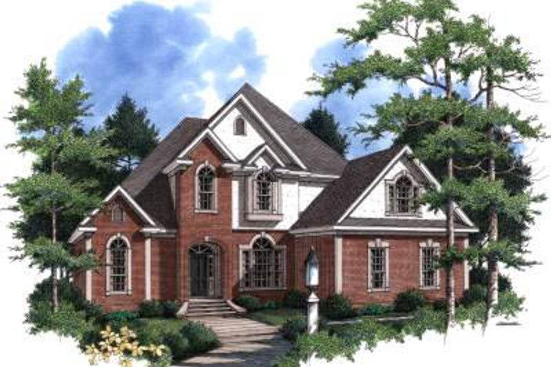 European Style House Plan - 4 Beds 4 Baths 3588 Sq/Ft Plan #37-127
