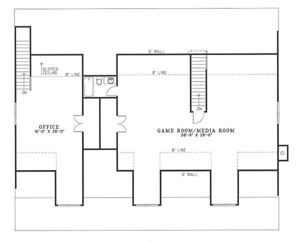Country Floor Plan - Upper Floor Plan Plan #17-2036