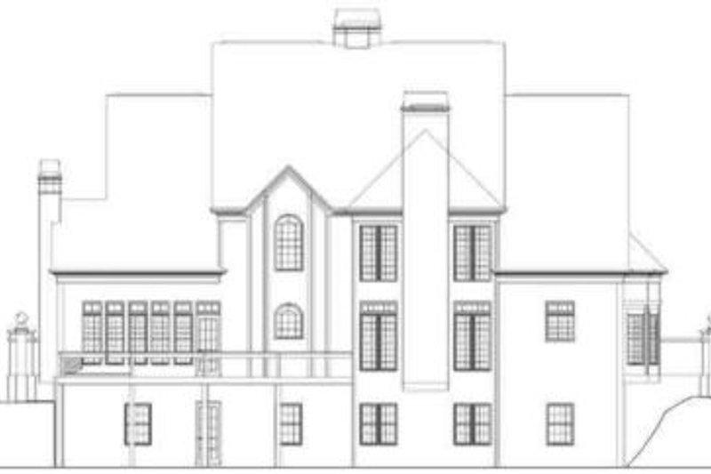 European Exterior - Rear Elevation Plan #119-142 - Houseplans.com