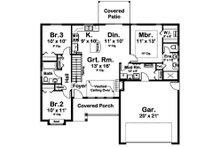 Craftsman Floor Plan - Main Floor Plan Plan #126-183