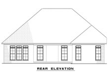 Architectural House Design - Ranch Exterior - Rear Elevation Plan #923-93