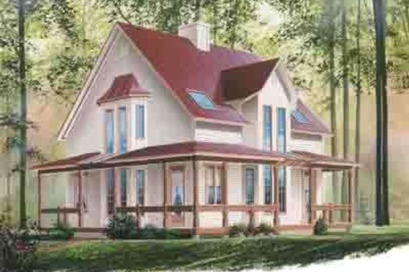 Home Plan - Country Exterior - Front Elevation Plan #23-615