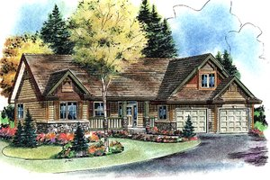 Craftsman Exterior - Front Elevation Plan #18-4503