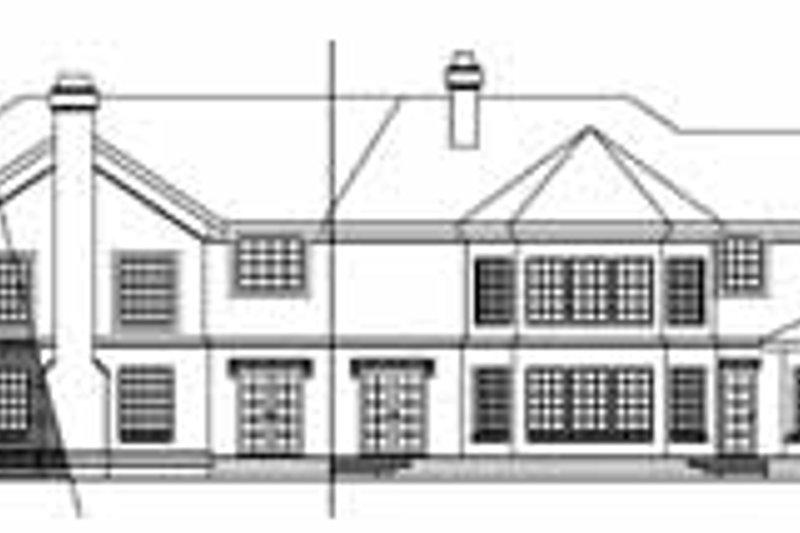 European Exterior - Rear Elevation Plan #124-134 - Houseplans.com