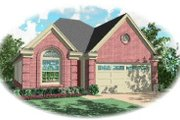European Style House Plan - 3 Beds 2 Baths 1382 Sq/Ft Plan #81-190 Exterior - Front Elevation
