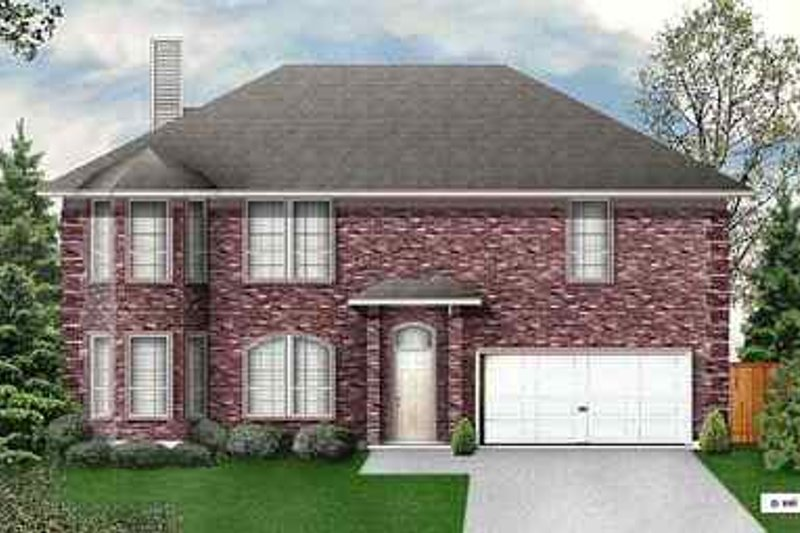Traditional Exterior - Front Elevation Plan #84-147 - Houseplans.com