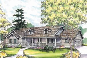 Traditional Exterior - Other Elevation Plan #124-480