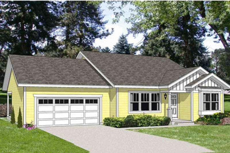 Traditional Style House Plan - 2 Beds 2 Baths 1596 Sq/Ft Plan #116-280 Exterior - Front Elevation