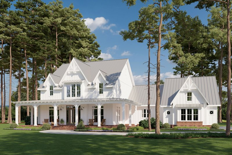 Architectural House Design - Farmhouse Exterior - Front Elevation Plan #1074-29