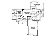 Traditional Floor Plan - Main Floor Plan Plan #124-849