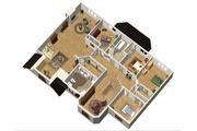 European Style House Plan - 5 Beds 2 Baths 4551 Sq/Ft Plan #25-4699 Floor Plan - Upper Floor Plan