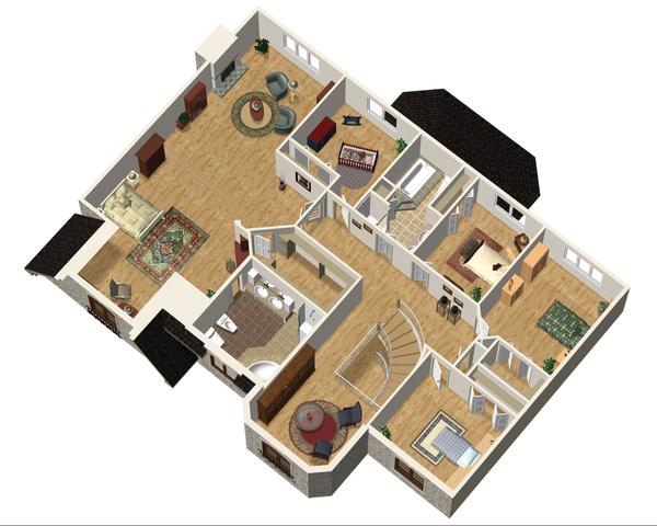 European Floor Plan - Upper Floor Plan Plan #25-4699