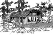 Traditional Style House Plan - 3 Beds 2 Baths 1260 Sq/Ft Plan #60-326 Exterior - Front Elevation