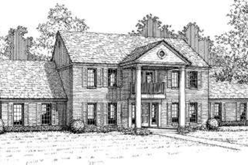 Colonial Style House Plan - 5 Beds 2.5 Baths 3178 Sq/Ft Plan #310-105 Exterior - Front Elevation