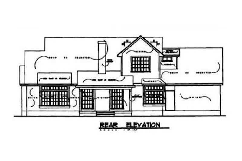 Country Exterior - Rear Elevation Plan #40-135 - Houseplans.com