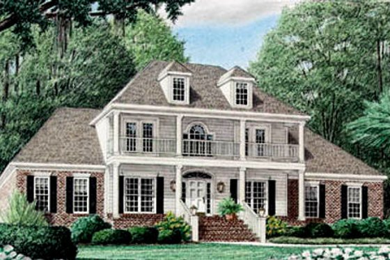 Southern Exterior - Front Elevation Plan #34-138