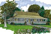 Farmhouse Style House Plan - 3 Beds 2 Baths 1601 Sq/Ft Plan #47-648 Exterior - Front Elevation