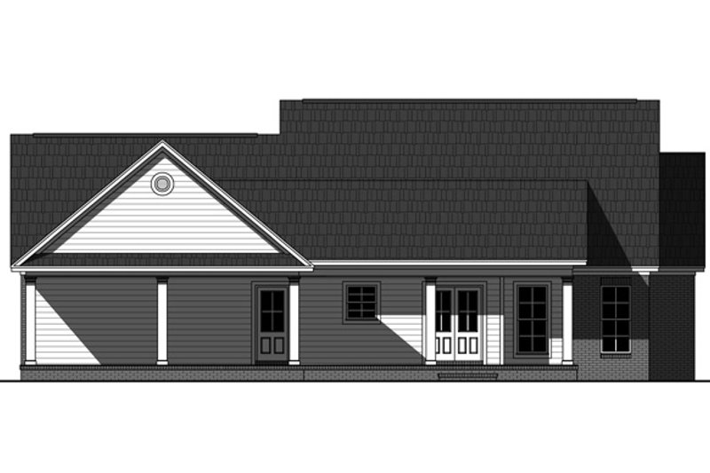 Country Exterior - Rear Elevation Plan #21-340 - Houseplans.com