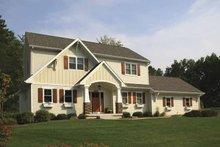 Country Exterior - Front Elevation Plan #928-163