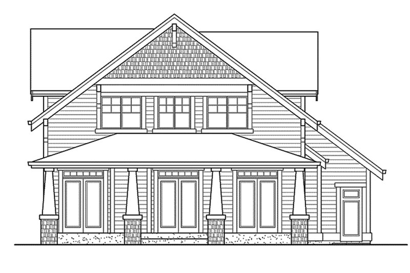 Craftsman Exterior - Rear Elevation Plan #132-358 - Houseplans.com