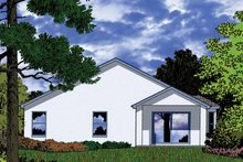 Architectural House Design - Country Exterior - Rear Elevation Plan #1015-37