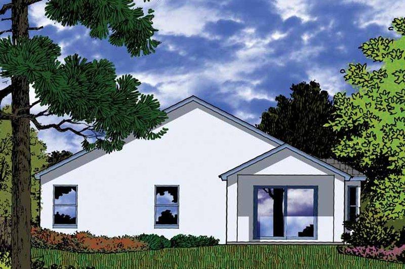 Country Exterior - Rear Elevation Plan #1015-37 - Houseplans.com