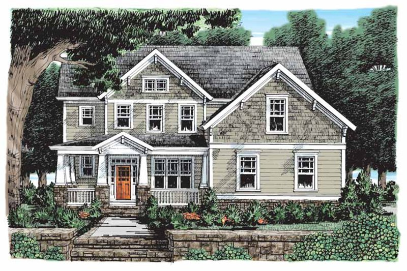 Craftsman Exterior - Front Elevation Plan #927-902