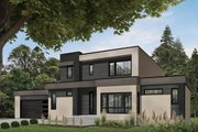 Modern Style House Plan - 4 Beds 3 Baths 2142 Sq/Ft Plan #23-2310 Exterior - Front Elevation