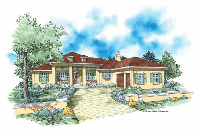 Colonial Exterior - Front Elevation Plan #930-351 - Houseplans.com