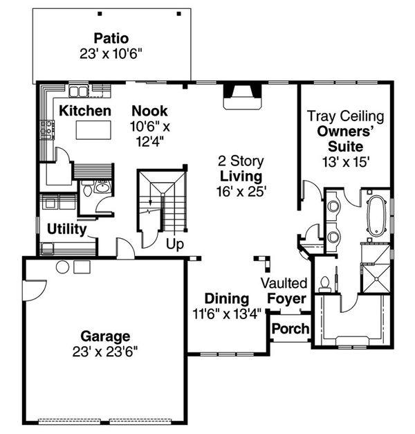 European Floor Plan - Main Floor Plan Plan #124-688
