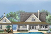 Home Plan - Country Exterior - Rear Elevation Plan #929-860