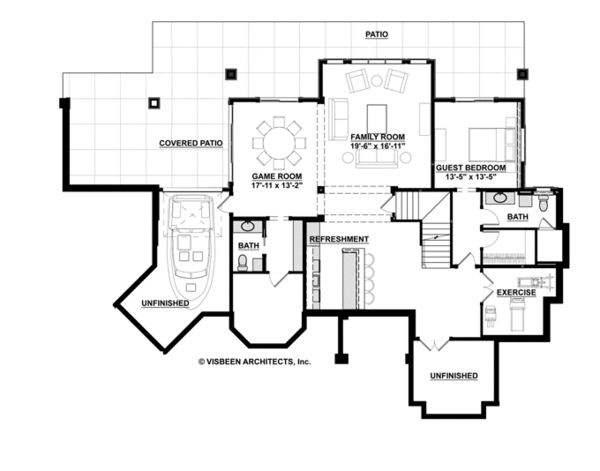 Country Floor Plan - Lower Floor Plan Plan #928-269