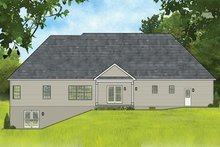 Dream House Plan - Ranch Exterior - Rear Elevation Plan #1010-194