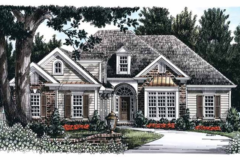 Country Exterior - Front Elevation Plan #927-739