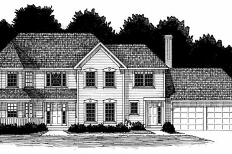 Victorian Exterior - Front Elevation Plan #328-157
