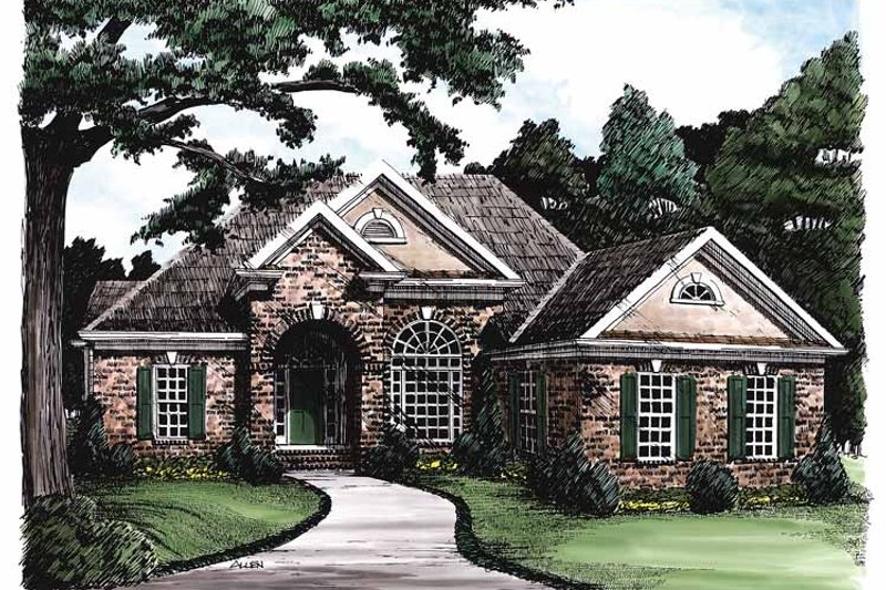 Traditional Exterior - Front Elevation Plan #927-128 - Houseplans.com