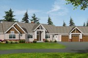Craftsman Style House Plan - 2 Beds 2.5 Baths 2195 Sq/Ft Plan #132-104 Exterior - Front Elevation