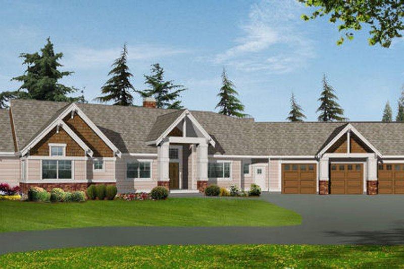 Craftsman Style House Plan - 2 Beds 2.5 Baths 2195 Sq/Ft Plan #132-104