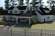 Farmhouse Style House Plan - 5 Beds 3.5 Baths 3190 Sq/Ft Plan #1070-23 Exterior - Rear Elevation