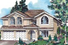 European Exterior - Front Elevation Plan #18-228