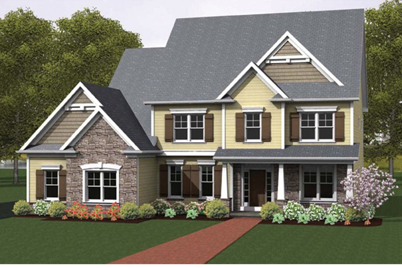 Colonial Exterior - Front Elevation Plan #1010-57