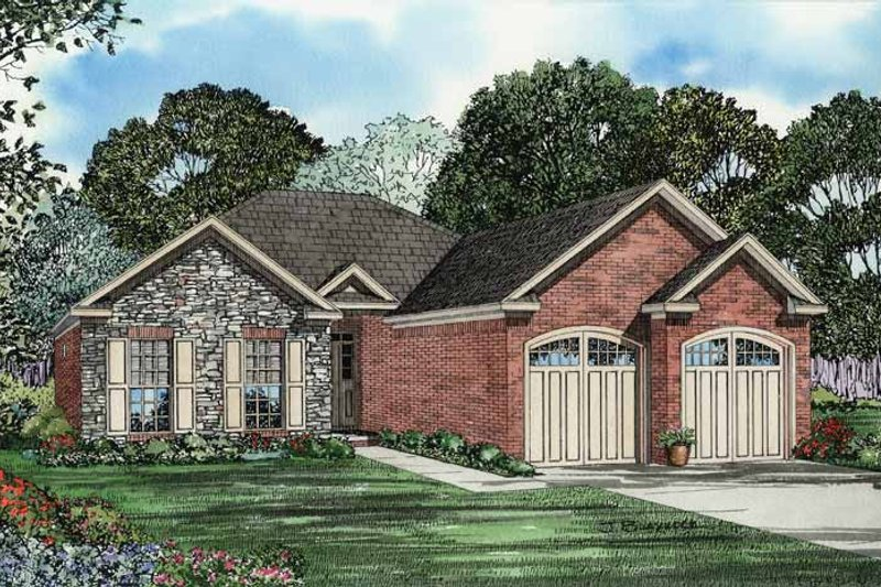 Architectural House Design - Traditional Exterior - Front Elevation Plan #17-2736