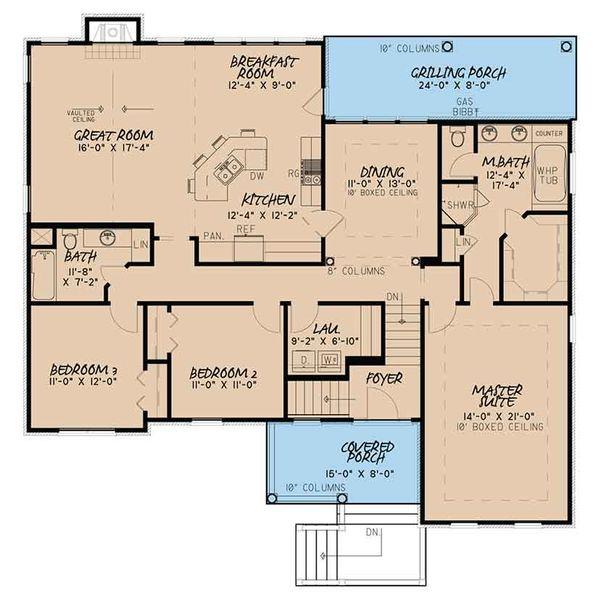 Traditional Floor Plan - Main Floor Plan Plan #17-3410